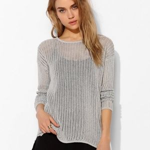 Urban Outfitters ByCorpus Au Natural Mesh Sweater